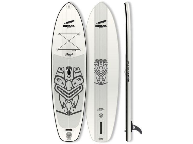 Indiana SUP 10'6 Allround Inflatable Sup white/grey